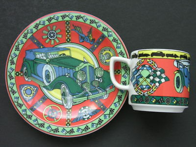 BOPLA * Demi Cup & Saucer * TWIN SIX & ROADSTER * Series VOYAGE Langenthal