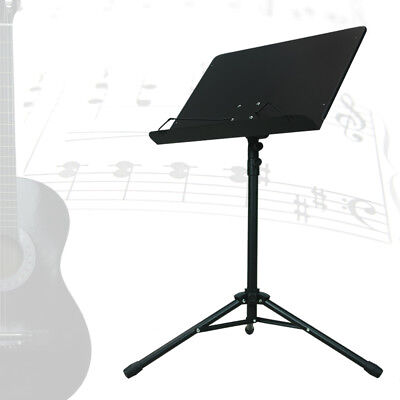 Music Orchestra Conductor Black Music Stand Adjustable Heavy Duty Folding Sheet