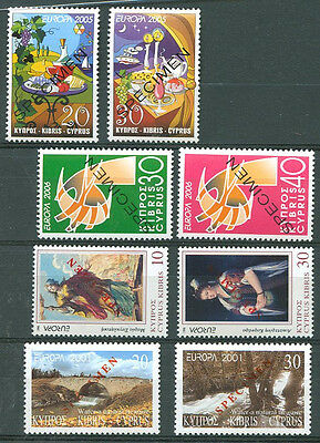 "CYPRUS ""EUROPA CEPT"" 4 Different Stamps SPECIMEN"