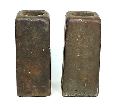 PAIR of ANTIQUE AMERICAN 8 DAY WEIGHT DRIVEN CLOCK WEIGHTS SP364