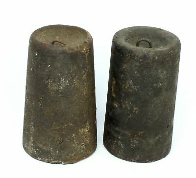 PAIR of ANTIQUE AMERICAN WEIGHT DRIVEN CLOCK WEIGHTS SP366