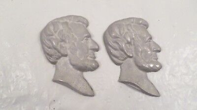 "Pair of 3"" Cast Metal Abraham Lincoln Busts"