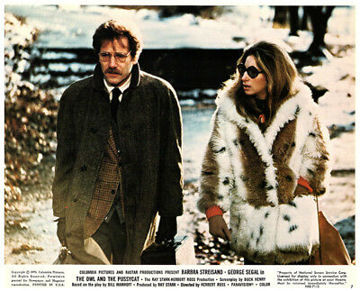The Owl and the Pussycat Barbra Streisand George Segal Original US Lobby Card