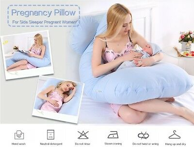 Curved Comfort U Pregnancy Pillow Side Sleeper Support Nursing Maternity Women
