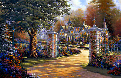 Fantasy castle Oil painting Giclee Art Printed on canvas L2030