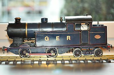 Very old live steam loco 4-4-0 GER spiritus fired blue/black  pictures down