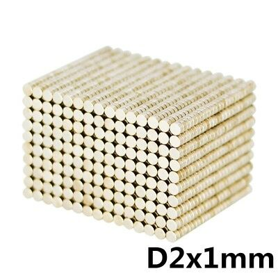 Lot of RARE EARTH MAGNETS for Office/ Hobby/ Model/ Wargaming/ Crafts: 2mm x 1mm