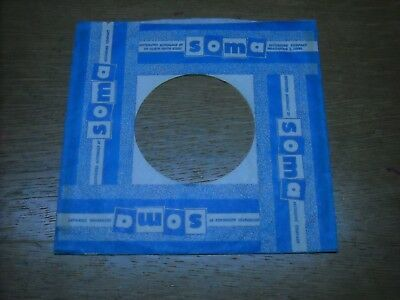 45 Company Record Sleeves. Lot Of One.  Soma, Blue. Minneapolis Co.