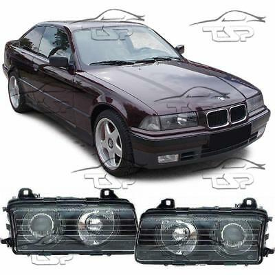 Headlights Dark For Bmw E36 90-94 Series 3 Cuope Saloon Cabrio New Lamps
