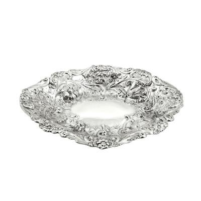 """Antique Victorian Sterling Silver 10 1/2"""" Dish / Bowl - 1885"""