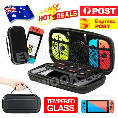 Nintendo Switch Shell Carrying Case Storage Bag Cover+Free Tempered Screen Glass
