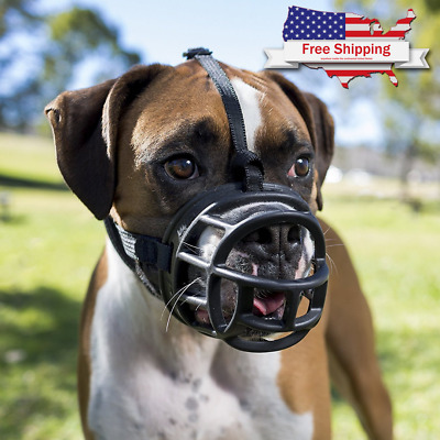 Baskerville Ultra Muzzle For Dog Comfortable Soft Plastic Mesh Basket Black Tan