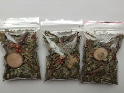 ROWAN LEAF MIX Celtic Ogham Pagan WthTwig Berries Round Wicca Witch Druid Spell