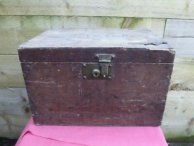 Vintage Wooden Box Tool Box Storage Cabinet Chest Sewing Box Hobbies Crafts