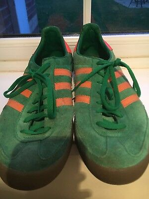 ADIDAS JEANS Trainers Green Orange Size 10. With Original Box. - EUR ... 3e1dfdf50
