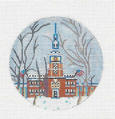 SP.ORDER ~ Philadelphia Independence Hall HP Needlepoint Ornament by Juliemar