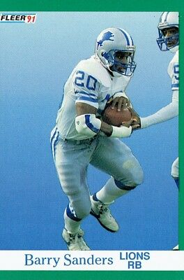 BARRY SANDERS ~ Detroit Lions  Hall Of Famer ~ 16-Card Pack ~ Great ... 7926f2920