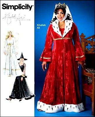 OOP! WOMEN SNOW QUEEN ANGEL WITCH COSTUME SEWING PATTERN 26W-32W Simplicity 2818