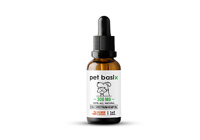 Full Spectrum Hemp Oil for Dogs, Cats Other Pets - Salmon Flavored (300mg) 1oz