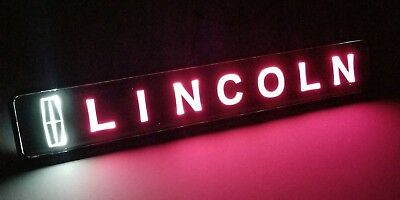 LINCOLN LED Logo Light Car For Front Grille Badge Illuminated Decal Sticker