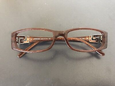 e7d53c0867a8 Versace eye glasses frames spectacles amber plastic 52 16 130 USED women's  small