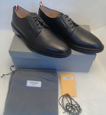 27a4ef95f62668 MEN'S THOM BROWNE Black Leather Pebble Grain Shoes Size 11 New ...
