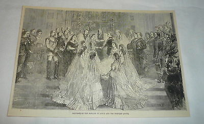 1879 magazine engraving ~ MARRIAGE OF PRINCESS LOUISE AND MARQUIS OF LORNE
