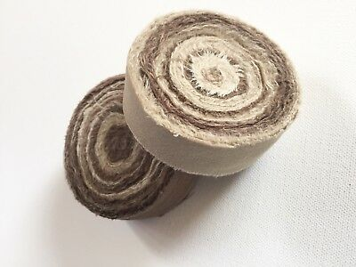 Rugmaking Fabric Strips Rag Rug Amish Knot Braided Rug Brown 60 Yds