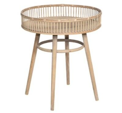 Tremendous Rattan Round Side Table Tray Bedside Coffee Table Stand Hampton French Coastal Download Free Architecture Designs Itiscsunscenecom