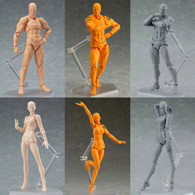 2PCS Drawing Figures for Artist Action Figure Model Human Mannequin Man Woman US