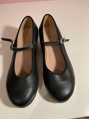 Girls Bloch Black Leather Tap Shoes  Size 6 Dance