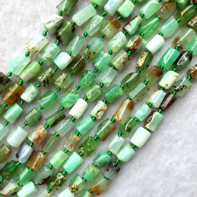 Natural Genuine  Australia Grass Green Chrysoprase Nugget Free Form Smooth Beads