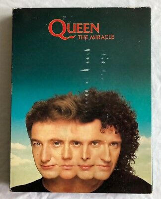 QUEEN -The Miracle- Ultra Rare UK Promo Box Set with Sampler tape, CD, booklet..