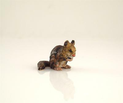 NEW OLD STOCK Franz Bergmann Vienna Tiny CHIPMUNK Squirrel Cold Painted Bronze