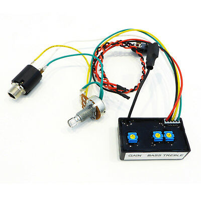 On board Equalizer / Pre amp for Electric Guitar Piezo Pickup