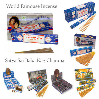 🌟 Satya Sai Baba Genuine Nag Champa Incense Joss Stick Cones Mix & Match Scent
