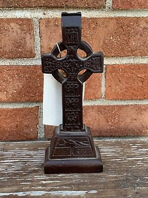 "IRELAND Boglands Wood 7"" Crucifix Cross Celtic People IRISH ROMAN CATHOLIC ❤️m9"