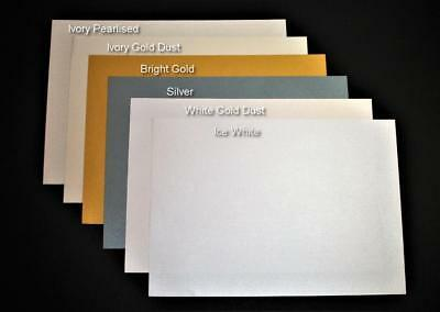 20 x A4 Pale Coral Pearl Shimmer Card 285gsm double sided luxury