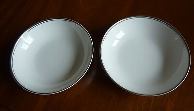 2 X Royal Doulton Platinum Concord 7 Inch Fruit/cereal/soup Bowls