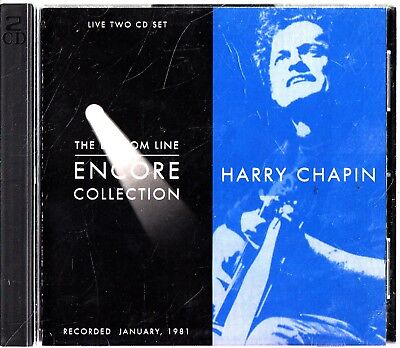 HARRY CHAPIN- Bottom Line: Encore Collection 1981 LIVE Album 2-CD (The Best of)