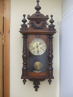 Antique Vienna Regulator Wall Clock Late 19Th Century