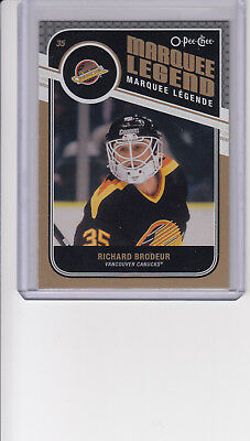 11/12 OPC Vancouver Canucks Richard Brodeur Marquee Legend card #503