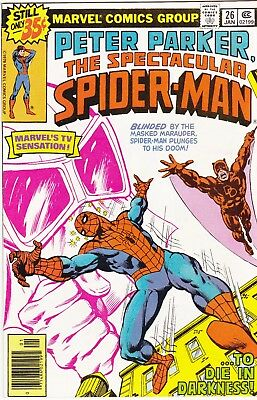 Marvel - PETER PARKER - SPECTACULAR SPIDER-MAN # 26 January 1979 & Daredevil