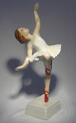 Rare Royal Worcester Red Shoes 3258  Ballerina