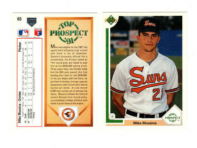 53 Count Lot 1991 Upper Deck Mike Mussina Rookie Cards ORIOLES SP HOF