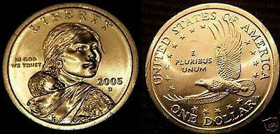 2005 P Native American Indian One Dollars US Mint Coin Set Money Sacagawea