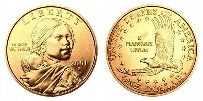 2001 Denver Native American Indian One Dollar US Mint Coin Sacagawea Coins