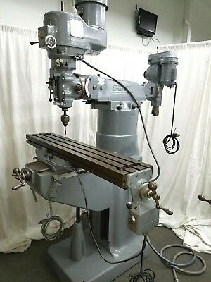 Bridgeport Milling Machine 42 inch Mill Miller 2HP with Rare Shaping Attachment