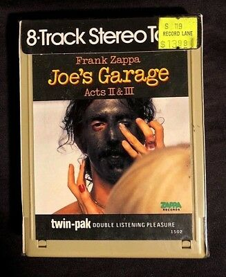 1979 Frank Zappa Joe's Garage Acts 2+3 -Sealed- 8 Track Audio Tape No Dill Holes