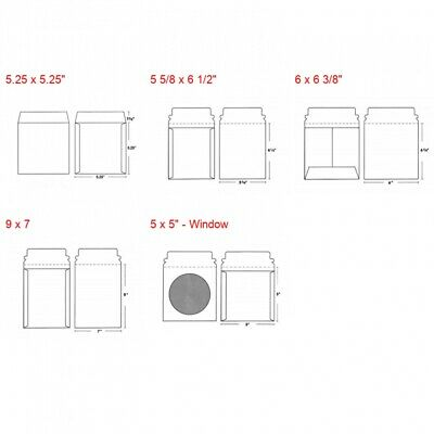 CD/DVD White Cardboard Flat Mailers with Self Seal Flap